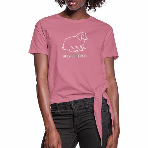 Stevige Teckel - Vrouwen Geknoopt shirt