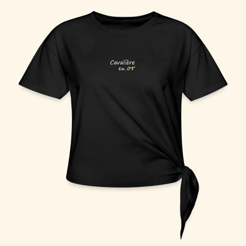 Cavalière en or - T-shirt à nœud