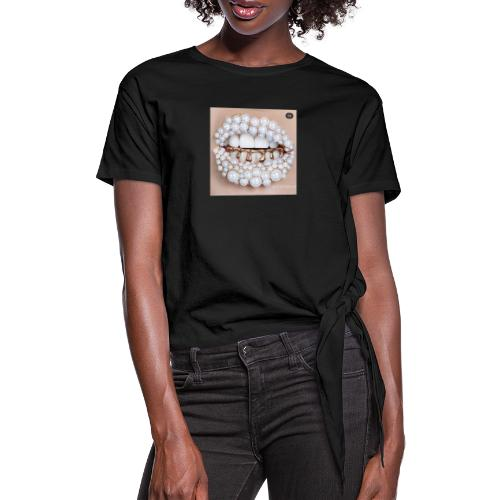 golden lips - Frauen Knotenshirt