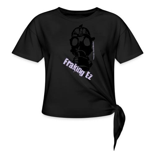 Anti - fraking - Camiseta con nudo mujer