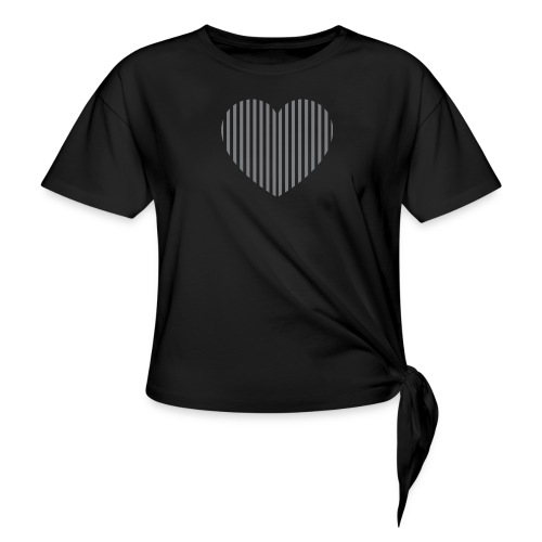 heart_striped.png - Women's Knotted T-Shirt