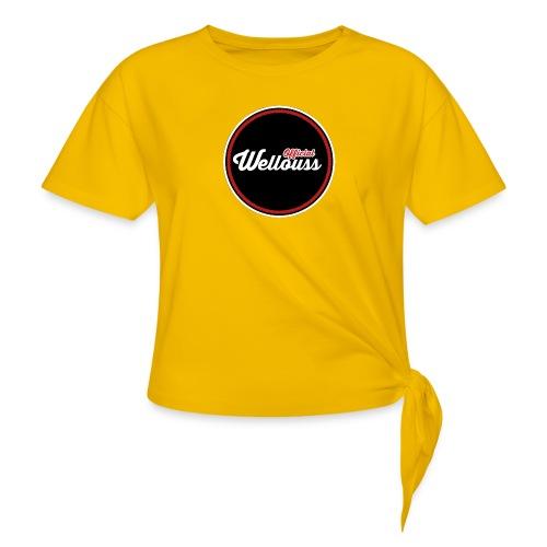 Wellouss Fan T-shirt   Rood - Vrouwen Geknoopt shirt