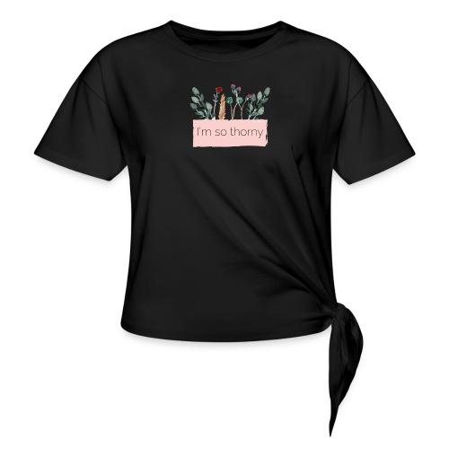 Flower Power - Maglietta annodata da donna
