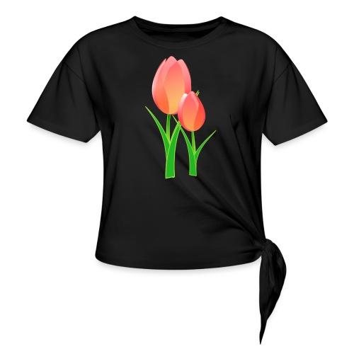 Belle fleur - T-shirt à nœud Femme