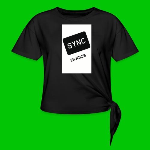 t-shirt-DIETRO_SYNK_SUCKS-jpg - Maglietta annodata