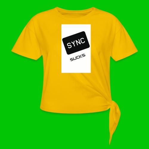 t-shirt-DIETRO_SYNK_SUCKS-jpg - Maglietta annodata da donna