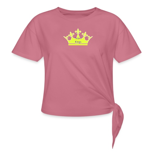 Team King Crown - Women's Knotted T-Shirt