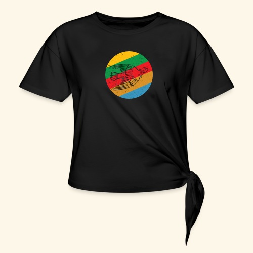 Grenadian Dove Retro - Knotted T-Shirt