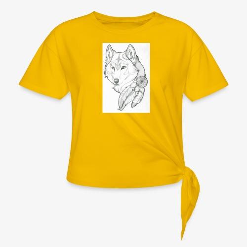 wolf - Vrouwen Geknoopt shirt