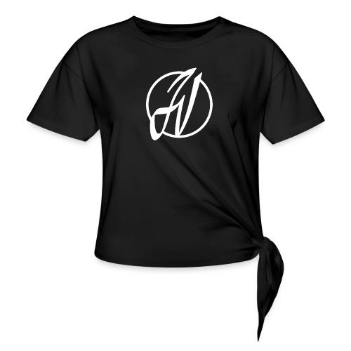 JV Guitars - logo blanc - T-shirt à nœud