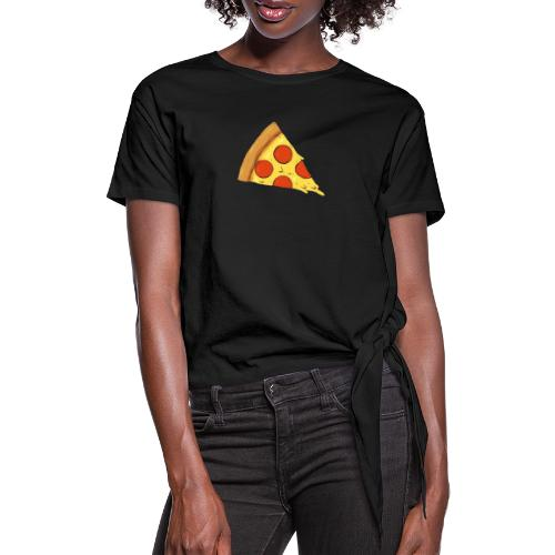 Pizza - Maglietta annodata da donna