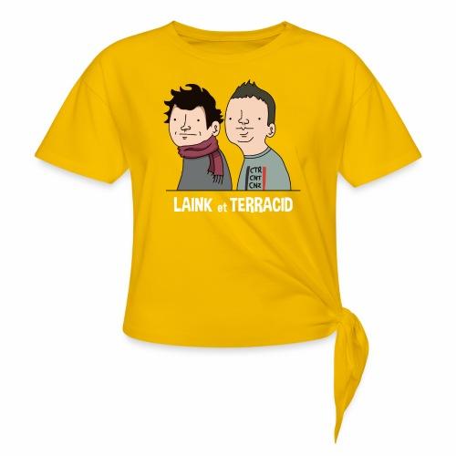 Laink et Terracid - T-shirt à nœud