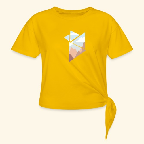shattered - T-shirt med knut dam