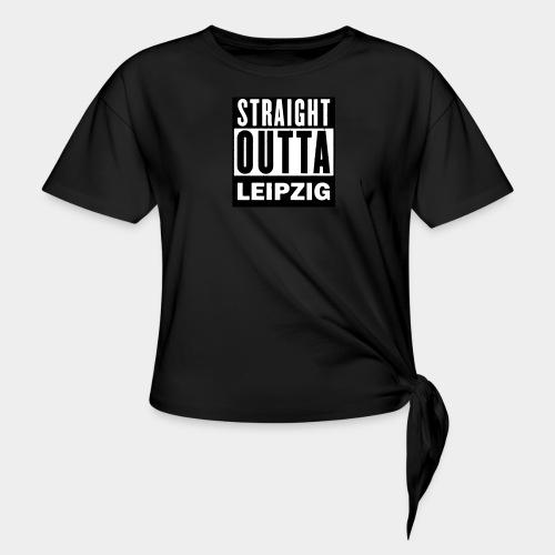 STRAIGHT OUTTA LEIPZIG - Frauen Knotenshirt