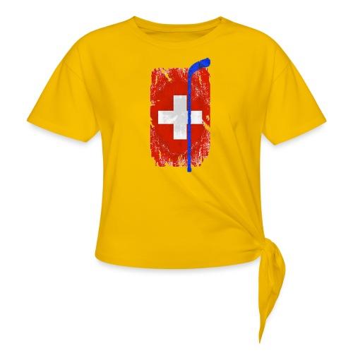 Schweizer Flagge Hockey - Frauen Knotenshirt