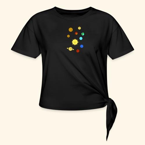 Solsystemet - T-shirt med knut dam