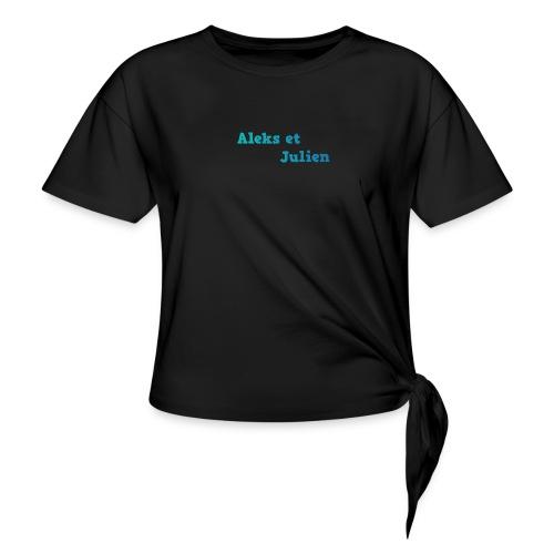 Notre logo - T-shirt à nœud Femme