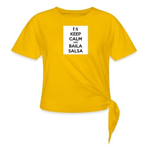 keep-calm-and-baila-salsa-41 - Maglietta annodata da donna