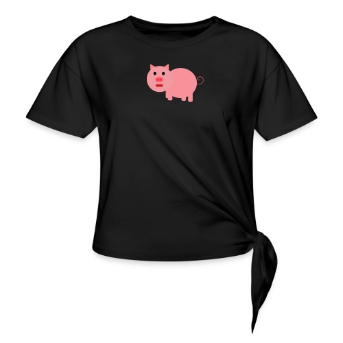 Pig Mad - Knotted T-Shirt