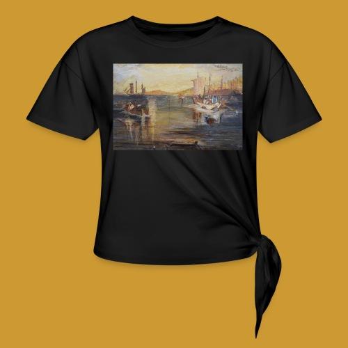 White Fishing - Mark Noble Art - Knotted T-Shirt