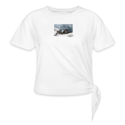 Mountains Colorized - Camiseta con nudo mujer