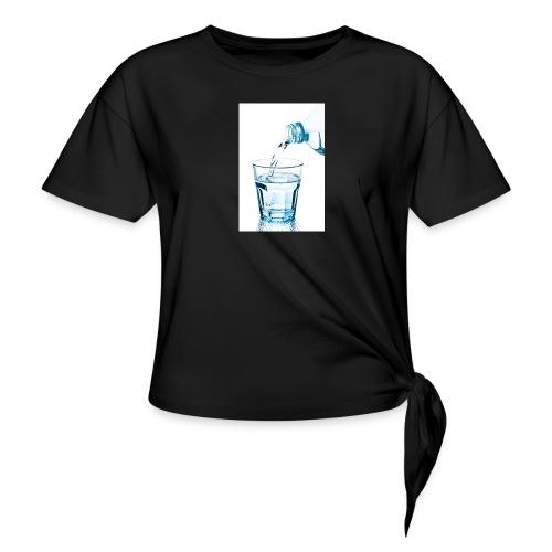 Glas-water-jpg - Vrouwen Geknoopt shirt
