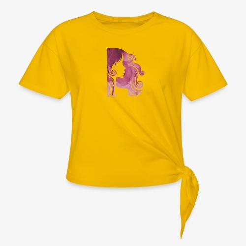 pink-930902_960_720 - T-shirt à nœud Femme