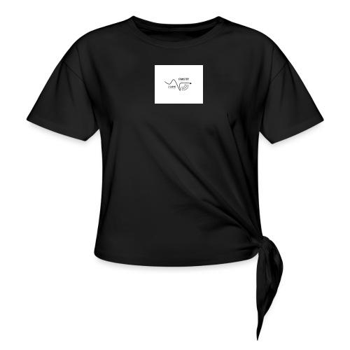 I_LOVE_DUBSTEP - Camiseta con nudo mujer