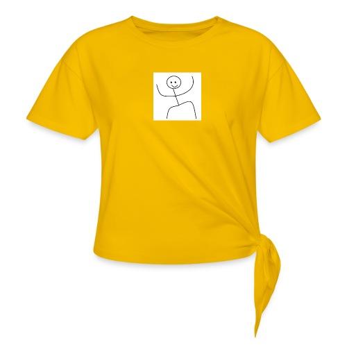 lady t-shirt stick man - Dame knot-shirt