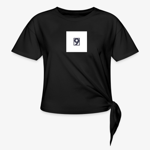 9 Clothing T SHIRT Logo - Women's Knotted T-Shirt
