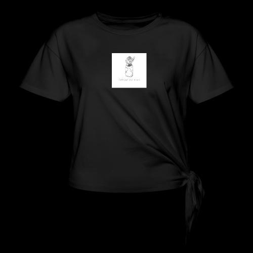 l'amour est mort - T-shirt à nœud Femme