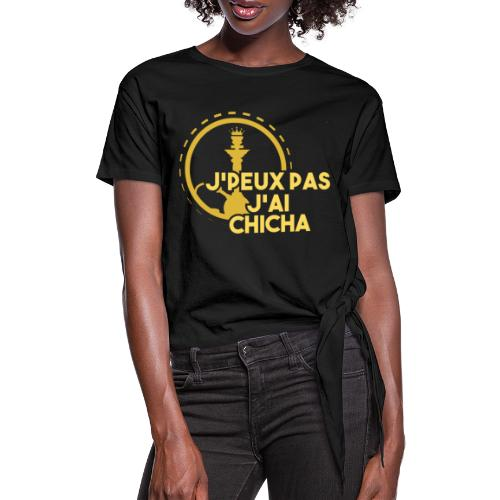 J PEUX PAS J AI CHICHA GOLD + IG - T-shirt à nœud Femme