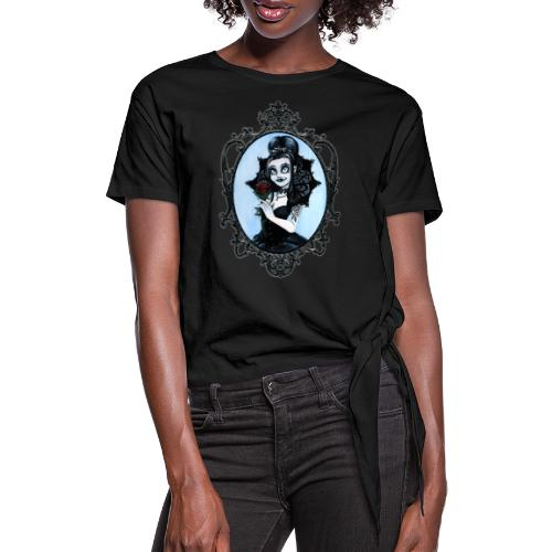 Model of the Year 2020 Lilith LaVey - Women's Knotted T-Shirt