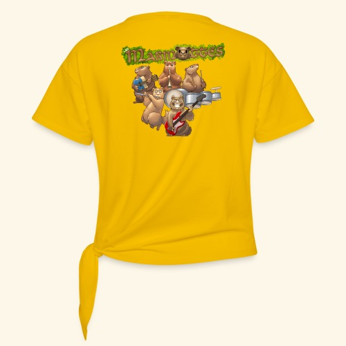 Tshirt groupe complet (dos) - T-shirt à nœud