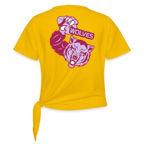 Wolves Rugby - T-shirt à nœud Femme