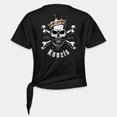 Skull Bones Logo - Frauen Knotenshirt