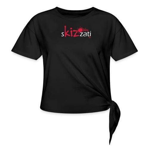 T-Shirt attillata sKizzati Kizomba Uomo verde fluo - Maglietta annodata