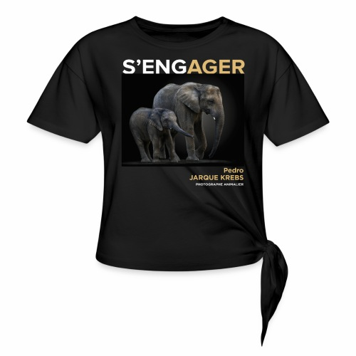 1 Achat = 1 Don à l'association Rainfer - T-shirt à nœud Femme
