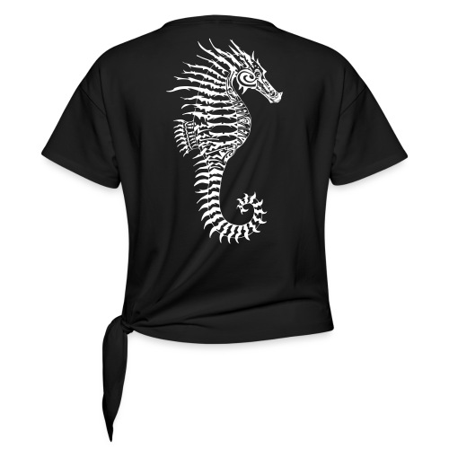 Alien Seahorse Invasion - Knotted T-Shirt