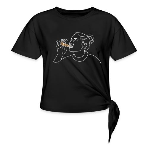Vera (vit) - T-shirt med knut dam