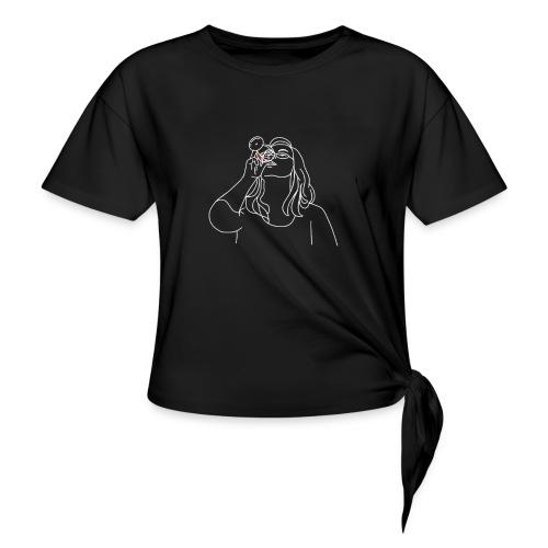 Alex (Vit) - T-shirt med knut dam