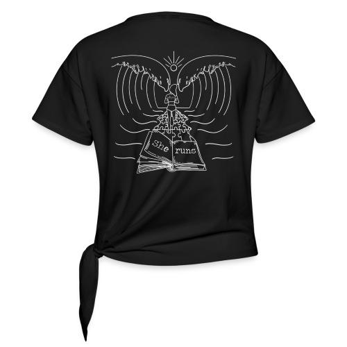 she Runs T shirt Black and white - Camiseta con nudo mujer