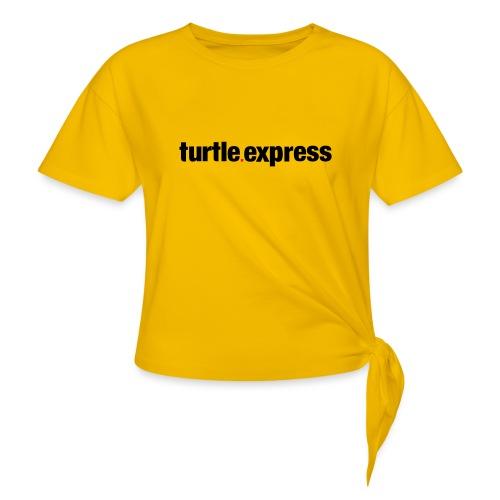 TEX Schriftzug - Frauen Knotenshirt