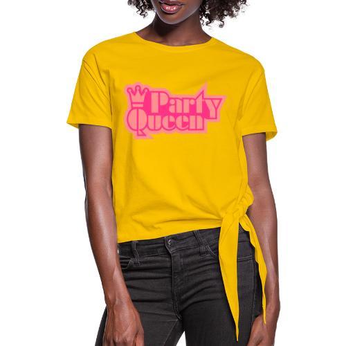 Party Queen - Vrouwen Geknoopt shirt