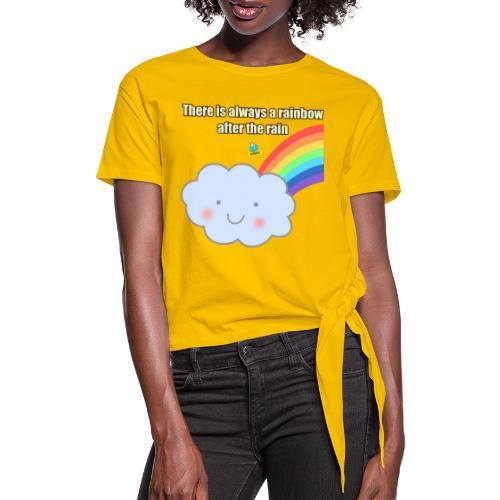 Bubbly! Rainbow - Maglietta annodata da donna