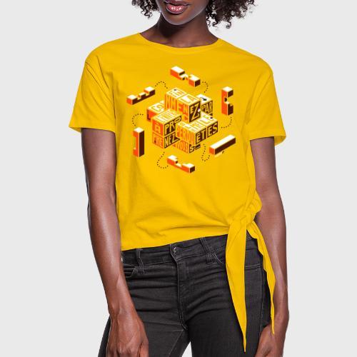Casse-tête typographique - T-shirt à nœud Femme