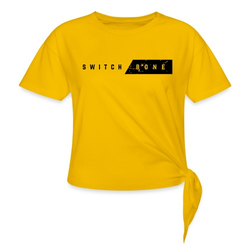 Switchbone_black - Vrouwen Geknoopt shirt