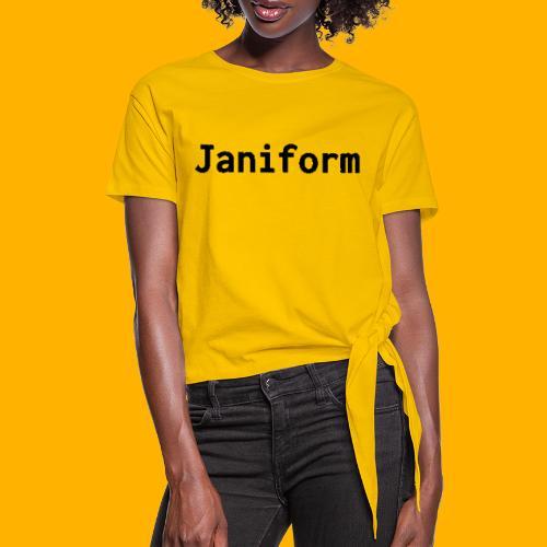 janiform - Women's Knotted T-Shirt