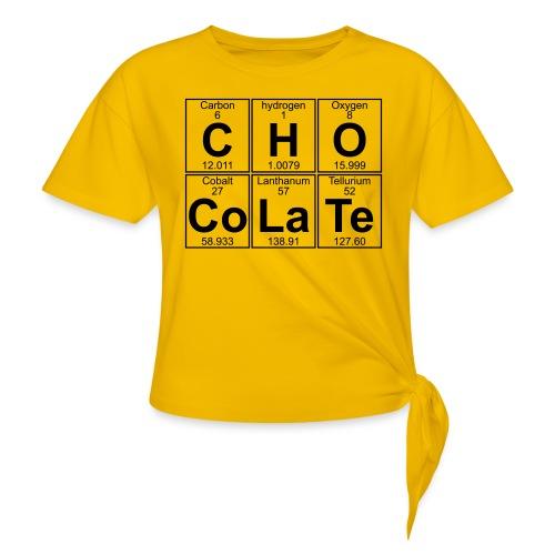 C-H-O-Co-La-Te (chocolate) - Full - Women's Knotted T-Shirt