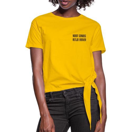 Nooit genoeg - T-shirt à nœud Femme